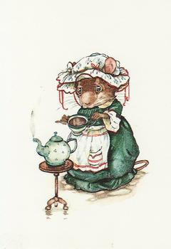 Having a Nice Cuppa Tea - Card Topper - Print 65mm x 115mm Jane Pinkney