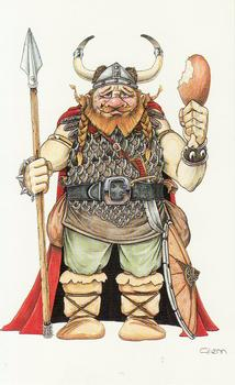 Ymir Viking - Card Topper - Print 65mm x 115mm Kits Glenn