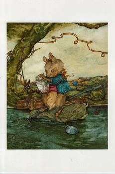 ** Harvest Mouse Fishing ** by Jane Pinkney size Excluding Boarder 5.5