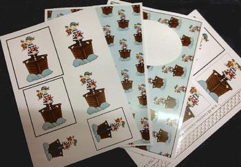 4 sheet Pirate kit - Inc Envelope . *