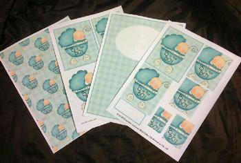 4 Sheet Baby Boy Kit inc Envelope *