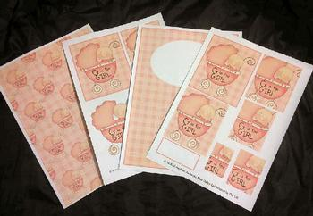 4 Sheet Baby Girl Kit inc Envelope *