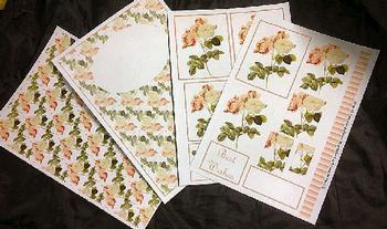 4 Sheet Floral Kit inc Envelope . *