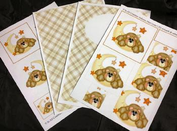 4 Sheet Cute Bear Kit inc Envelope . *
