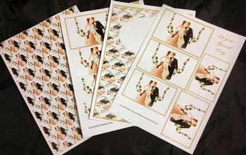 4 Sheet Wedding Kit inc Envelope . *