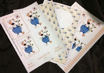 4 Sheet Dog Kit inc Envelope . *