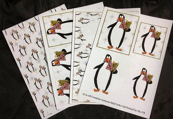 4 Sheet Penguin Kit inc Envelope . *