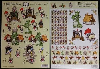 Alphabet DRAGON KNIGHT & RAPUNSEL themed Die Cut Sticker & 3D Sheet 467 468 . -
