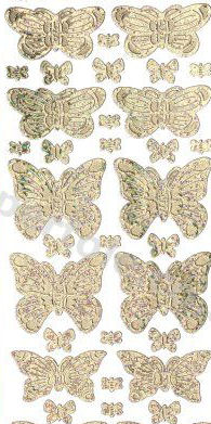Butterflies / Butterfly --  GOLD PEEL OFF STICKERS -- by Startform *** 22 Peel Off Stickers Le Suh