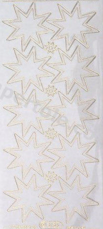 Stars Gold   39 Peel Off Stickers Le Suh