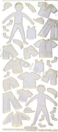 Boy and Clothes Gold   42 Peel Off Stickers Le Suh