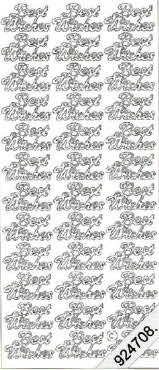 Best Wishes -- GOLD - PEEL OFF - STICKERS - by Starform *** 53 Peel Off Stickers Le Suh