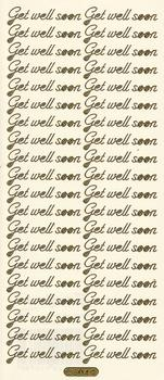 Get Well Soon  -- GOLD - PEEL OFF - STICKERS - by Starform ***  56 Peel Off Stickers Le Suh