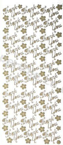 Thank you -- GOLD PEEL OFF STICKERS -- by Starform ***  59 Peel Off Stickers Le Suh