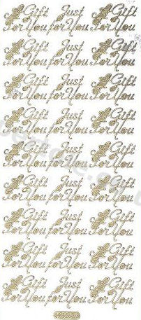A Gift For You - Just For You -- GOLD - PEEL OFF - - by Starform *** 66 Peel Off Stickers Le Suh