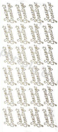 Seasons Greetings -- GOLD - PEEL OFF -- by Starform ***  67 Peel Off Stickers Le Suh