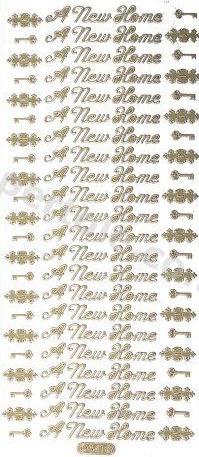 A New Home / Key /  GOLD -- PEEL OFF --STICKERS -- by Starform ***  69 Peel Off Stickers Le Suh