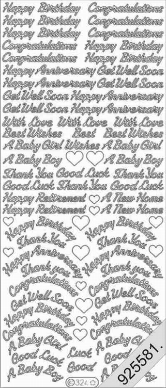 Various -- Happy Birthday / Congratulations / Get Well Soon / Happy Anniversary / Good Luck / Retirement / GOLD STICKERS -- 1 - by Starform ***  555 Peel Off Stickers Le Suh