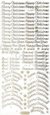 Merry Christmas - Happy Christmas   76 Peel Off Stickers Le Suh
