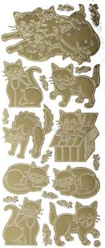 Cats   79 Peel Off Stickers Le Suh