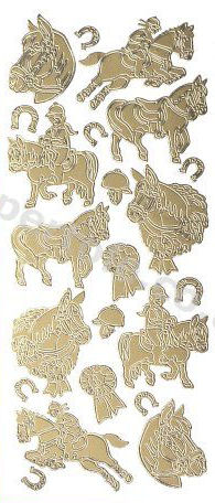 Horses Heads and Horse Shoes   81 Peel Off Stickers Le Suh
