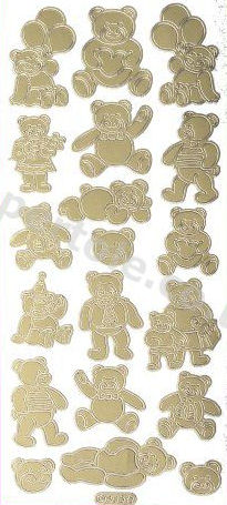 Teddy Bears   82 Peel Off Stickers Le Suh