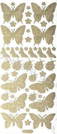 Various Butterflies   84 Peel Off Stickers Le Suh