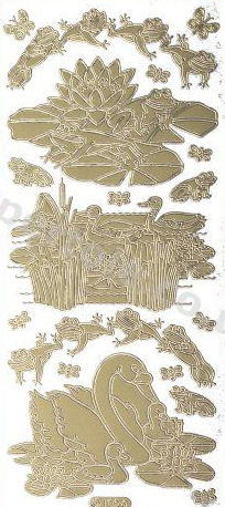 Frogs - Ducks - Swans   88 Peel Off Stickers Le Suh