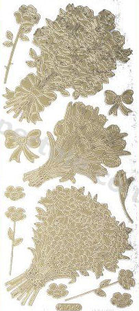 Bouquet of Flowers   96 Peel Off Stickers Le Suh