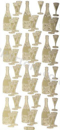 Champagne and Glasses   101 Peel Off Stickers Le Suh