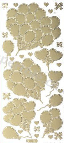 Party Balloons   104 Peel Off Stickers Le Suh