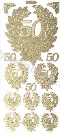 50th Wedding Anniversary   106 Peel Off Stickers Le Suh