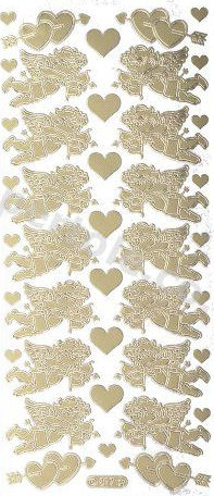 Hearts and Cupids   109 Peel Off Stickers Le Suh