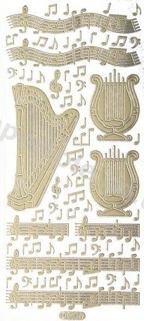 Harp and Music   127 Peel Off Stickers Le Suh