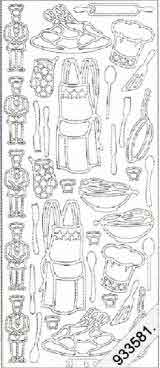 Chef - Cooking Utensils   128 Peel Off Stickers Le Suh