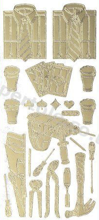 Men - Drill - Shirt - Cards - Beer   130 Peel Off Stickers Le Suh