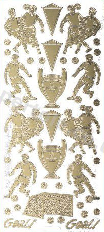 Football - Soccer   134 Peel Off Stickers Le Suh