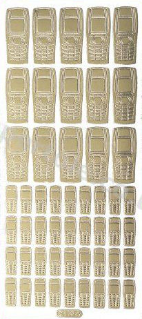 Mobile Phones Large and Small   138 - OUT OF STOCK Peel Off Stickers Le Suh