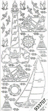 Fishing Boats - Lighthouse - Sailing Boat   141 Peel Off Stickers Le Suh