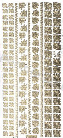 Borders and Corners 3   164 Peel Off Stickers Le Suh
