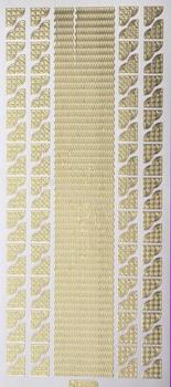 Gold - Borders and Corners 15   176 Peel Off Stickers Le Suh