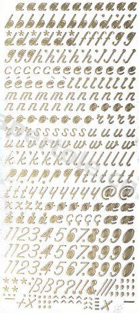 Italic lower Case Letters and Numbers   186 Peel Off Stickers Le Suh