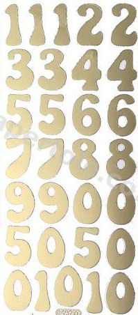 Large Numbers   191 Peel Off Stickers Le Suh