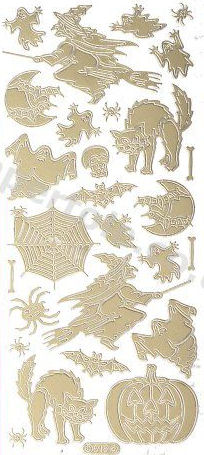 Halloween - Witches - Ghosts - Pumpkins   193 Peel Off Stickers Le Suh