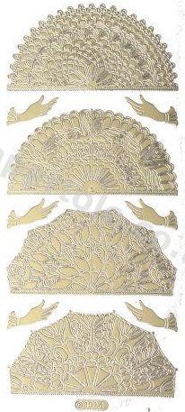 Oriental Fan   198 Peel Off Stickers Le Suh