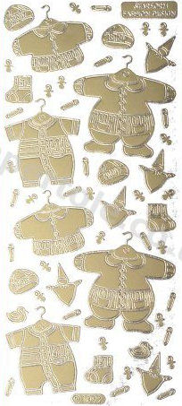 Baby Clothes 1   200 Peel Off Stickers Le Suh