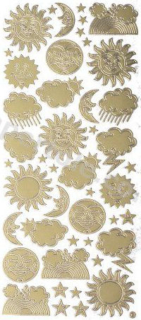 Moon - Sun - Clouds - Weather   211 Peel Off Stickers Le Suh