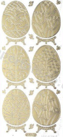 Large Floral - Easter Eggs   220 Peel Off Stickers Le Suh