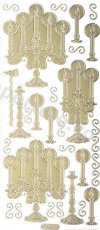 Candlesticks   222 Peel Off Stickers Le Suh