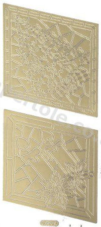 Christmas Picture 4 - Gold Peel Off - 229 Peel Off Stickers Le Suh